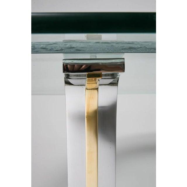 Art Deco Style Round Dining or Center Table, Chrome & Brass, Karl Springer - Image 7 of 11