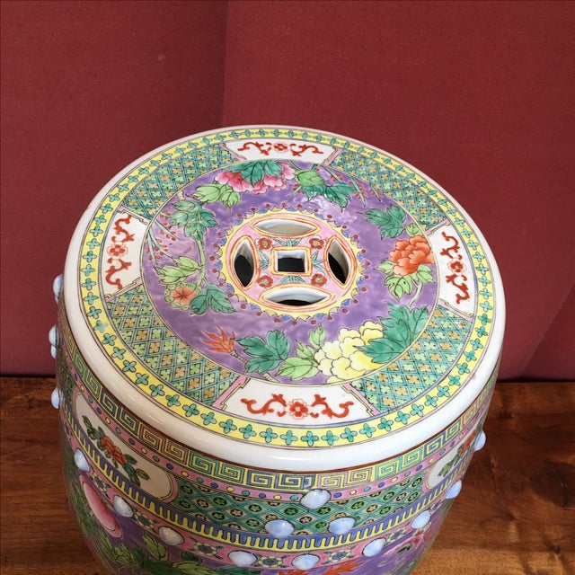 Pastel Colored Chinese Garden Stools - A Pair - Image 4 of 10