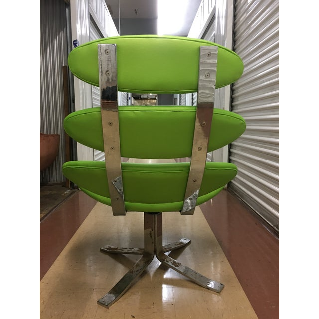 Mid 20th Century Poul Volther Corona Chair & Ottoman by Erik Jorgensen For Sale - Image 5 of 13