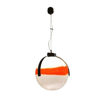 Mid Century Modernist Mazzega Murano Glass Ball Shaped Chandelier For Sale