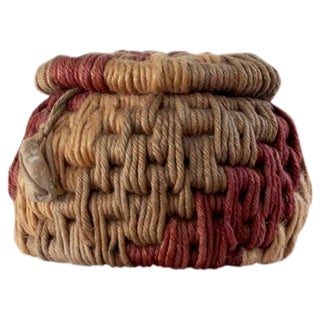 Vintage Rope Basket by Ruth Lescohier