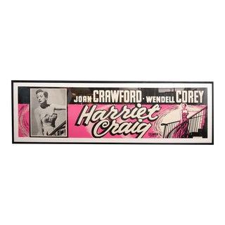 Original Joan Crawford Cinema Poster From The Classic Film Harriet Craig