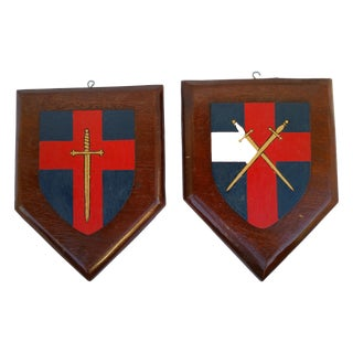 Vintage Lodge House Heraldic Shields For Sale