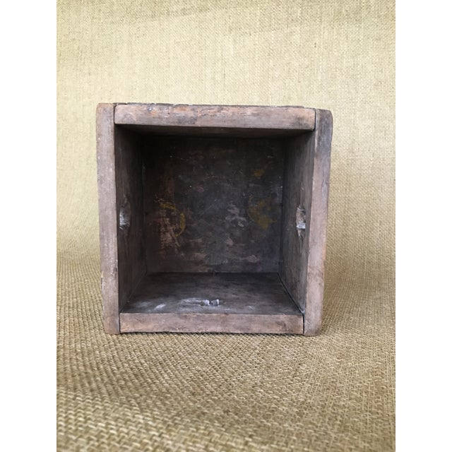 Blue 20th Century Asian Style Wood Box For Sale - Image 8 of 13