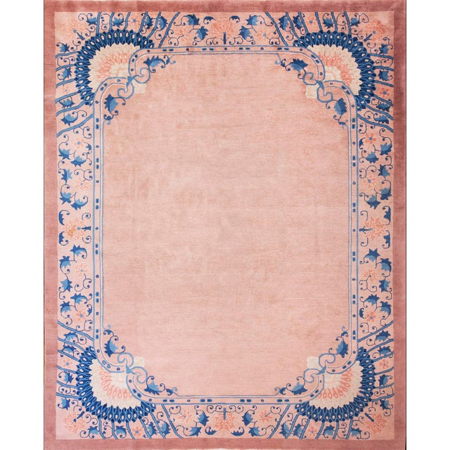 Chinese Art Deco Art Novena Style Rug-7′10″ × 9′10″ For Sale - Image 4 of 4