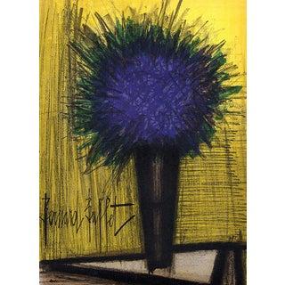 1960s Bernard Buffet Original Lithograph the Purple Bouquet of Flowers For Sale