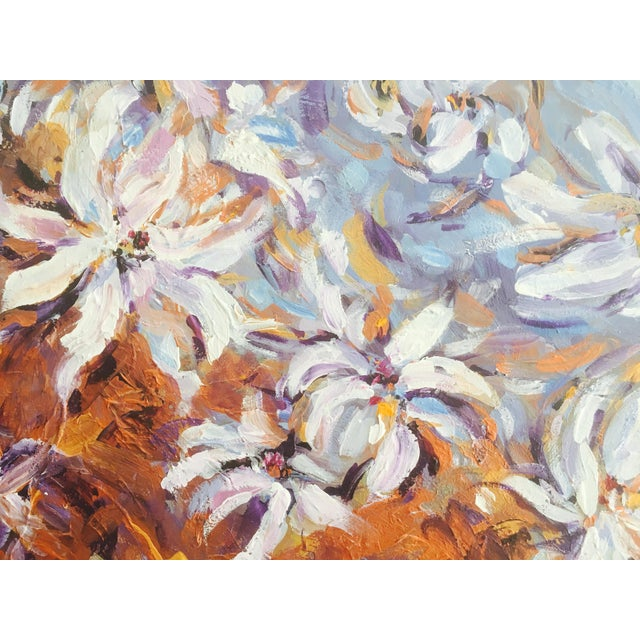 Contemporary Large Original Expressionistic Floral Painting For Sale - Image 3 of 6