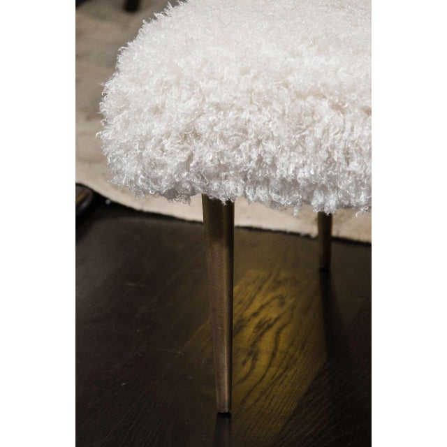 French French Faux Fur Bench For Sale - Image 3 of 6