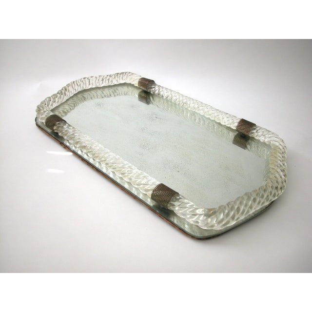 Antique Murano Twisted Glass Rope Vanity Tray For Sale - Image 10 of 10