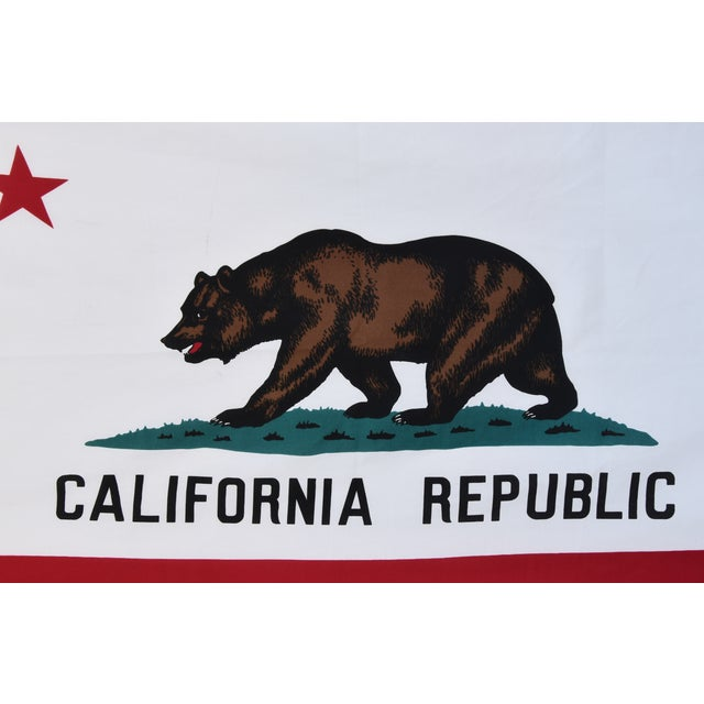 Americana Large Vintage California Republic State Bear Flag For Sale - Image 3 of 10