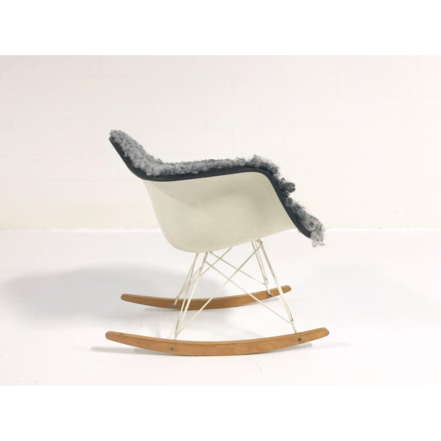 The classic Eames Rocker! A cult-favorite design gets an added oomph, restored in our cozy, soft, classicly-hued Gotland...