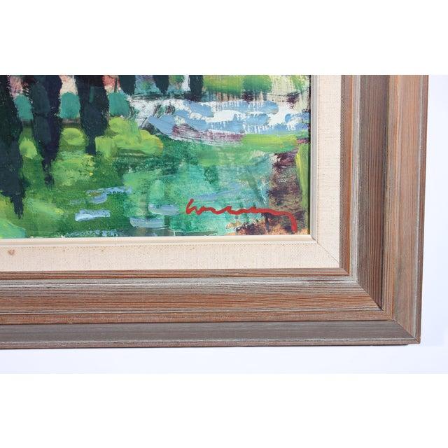 "Bertil Wahlberg ""Positano"" Oil Painting - Image 3 of 3"