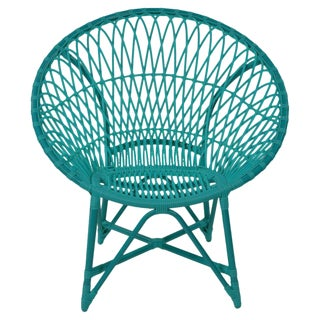David Francis Blue Indoor/Outdoor Lounge Chair For Sale