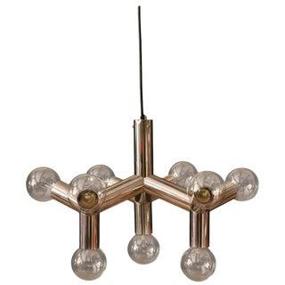 Mid-Century Modern Globe Chandelier Chrome Pendant For Sale