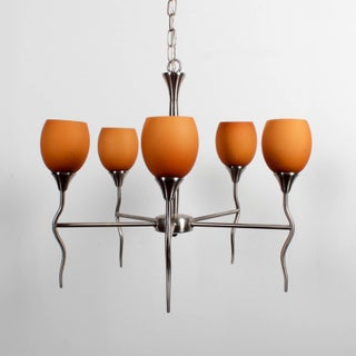 Contemporary 5 Lamp Chandelier Preview
