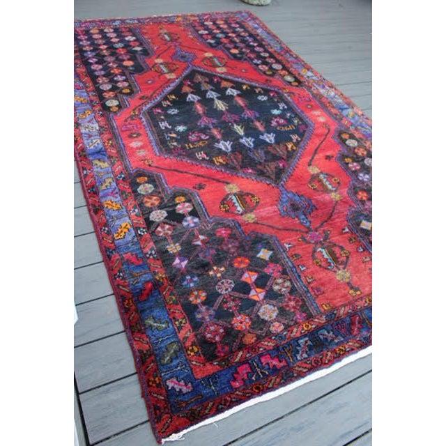 "Vintage Persian Zanjan Rug - 5'4"" x 8'10"" - Image 3 of 9"