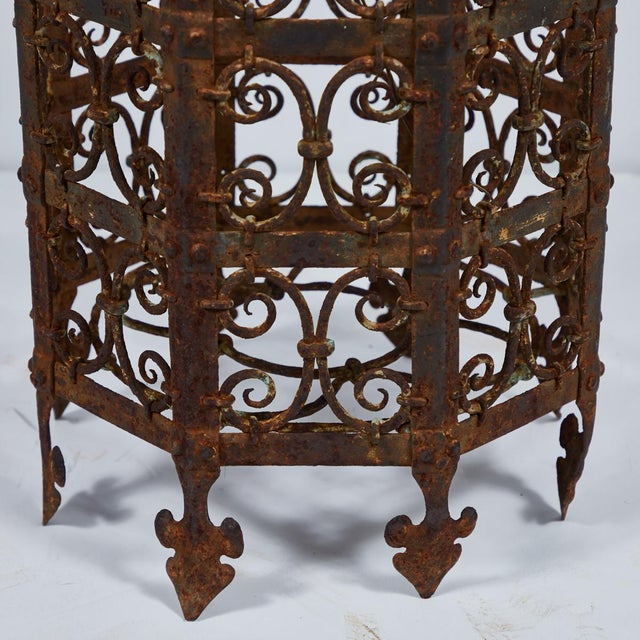 19th Century Decorative Iron Jardinière From France For Sale - Image 4 of 5