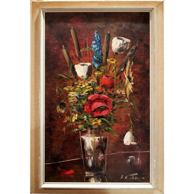 F.K. Thauer Floral Still Life Oil Painting - Image 10 of 10