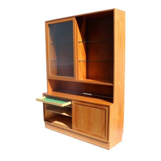 Danish Modern Teak Sideboard Hutch For Sale