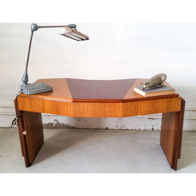 1920s Saddier French Art Deco Gull Wing Desk For Sale In Las Vegas - Image 6 of 11