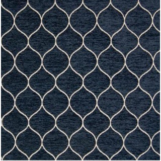 "Modern Greenhouse Fabric ""Midnight Blue"" Fabric- 1 Yard For Sale"