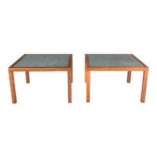 Mid-Century Modern Martz Low Tile Tables - a Pair For Sale