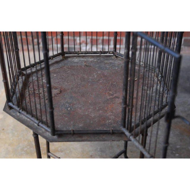 Chinoiserie Faux Bamboo Pagoda Standing Bird Cage - Image 2 of 9