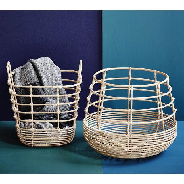 Cane-Line Sweep Basket, Round For Sale - Image 6 of 8