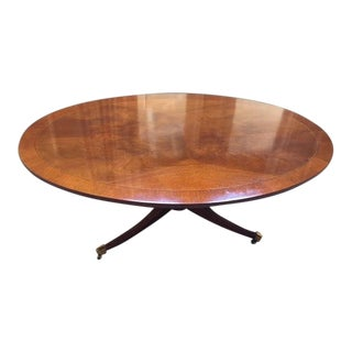 Oval Coffee Table by Hickory Chair For Sale