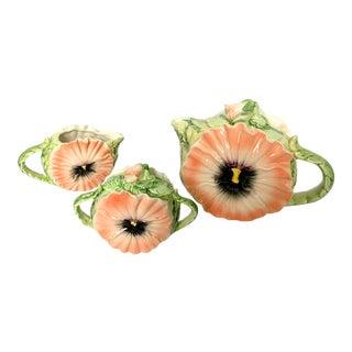 Floral Majolica Tea Set