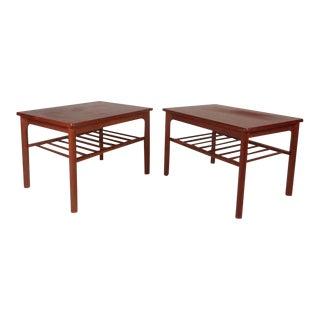 Pair of Danish Modern Teak End Tables by Mobelfabrikken Toften For Sale