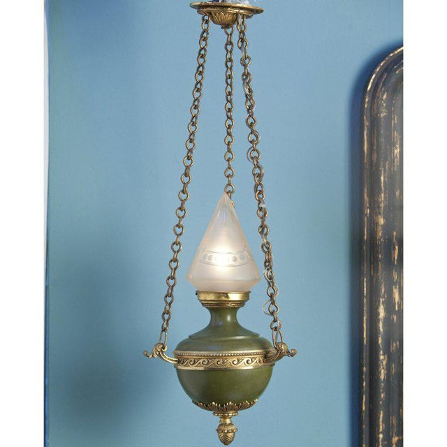 Empire-Style Hall Lantern from France, circa 1910 - Image 6 of 6