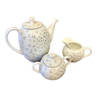 Modernist Ceramic Tea Set - Set of 3 For Sale