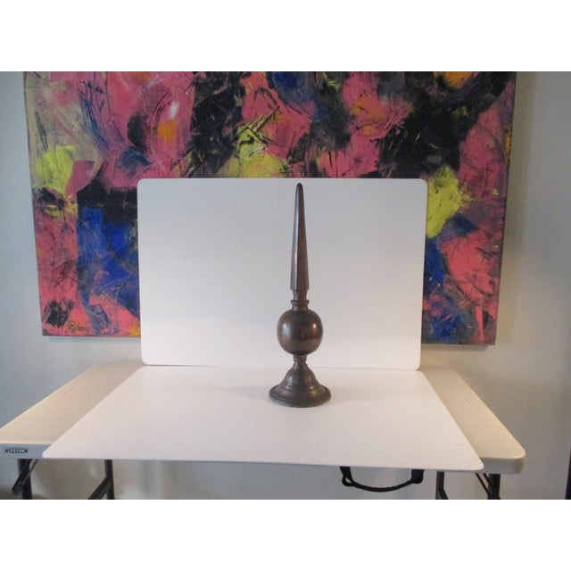 Vintage Copper Finish Roof Spire For Sale In Miami - Image 6 of 6