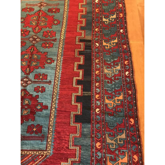 Early 20th Century Antique Turkish Kazak Rug - 5′7″ × 8′1″ For Sale - Image 5 of 9