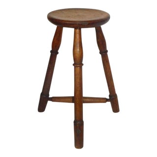 Early 19th Century New England Pie Crust Border Stool For Sale