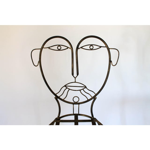 Gray Figural Iron Chairs in the Style of John Risley For Sale - Image 8 of 13