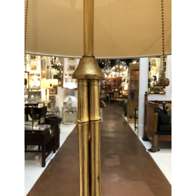 Gilt Metal Bamboo Floor Lamp by Circa Lighting For Sale - Image 4 of 13