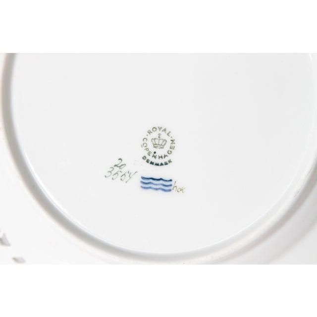 Ceramic Royal Copenhagen Flora Danica Pierced Plates #20/3554 For Sale - Image 7 of 13