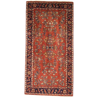 """Pasargad Ny Sarouk Design Hand Knotted Rug - 2'4"""" X 4'7"""" For Sale"""