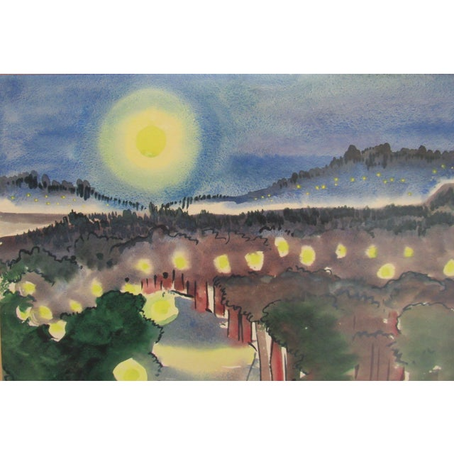 "Frances D. Hoar ""Night Landscape"" For Sale - Image 4 of 5"