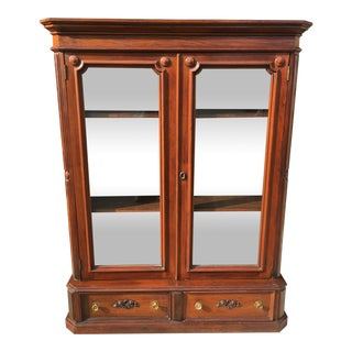Late 19th Century Walnut 2 Door Bookcase For Sale