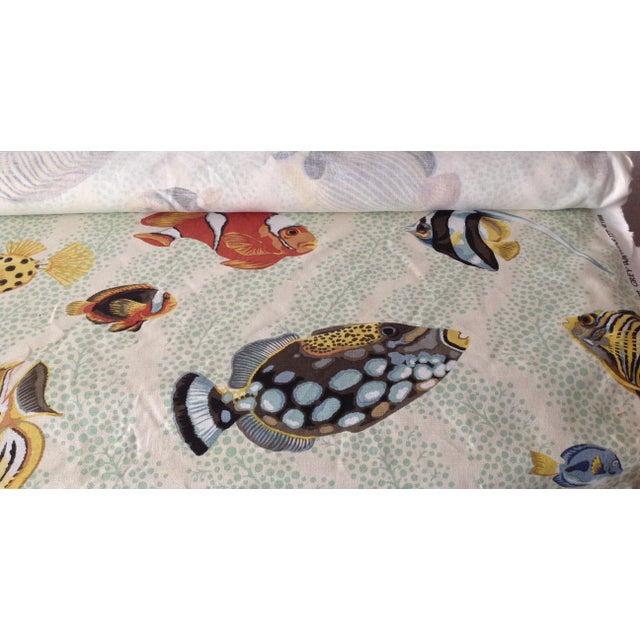 "Grey Watkins ""Barbuda"" Fish Linen Textile - 4 1/3 Yds. For Sale - Image 11 of 12"