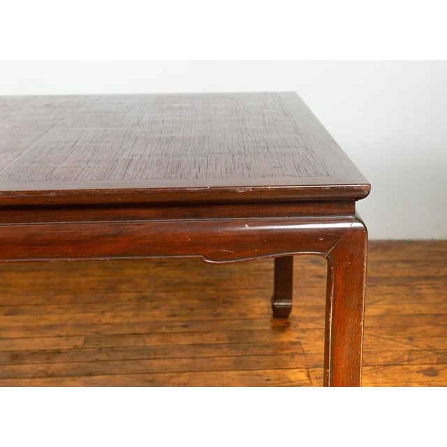 Vintage Thai Open Mat Top Inlay Dining Table For Sale In New York - Image 6 of 11