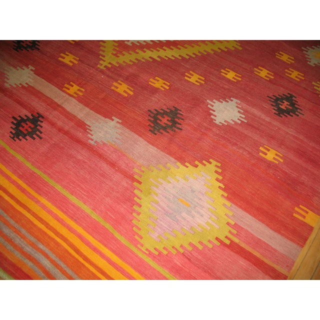 Vintage Red & Yellow Kilim Rug - 8'8'' X 11'8'' - Image 6 of 6