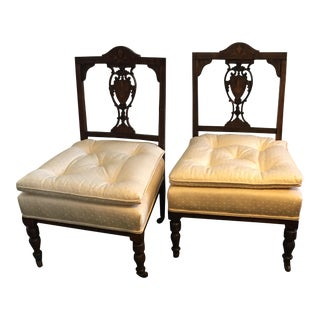 Antique Hepplewhite Shield Back Side Chairs - a Pair For Sale