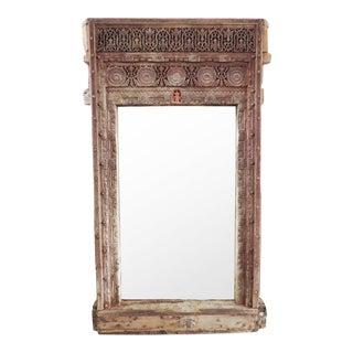 Antique Rajasthan Doorway Mirror For Sale