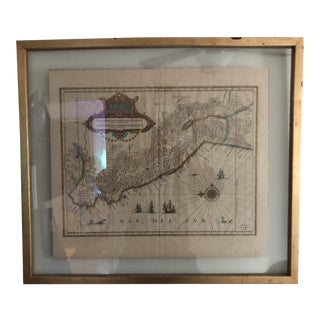 1700s Antique Peruvian Map For Sale