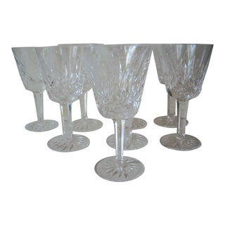 1980s Waterford Crystal Wine Stems - Set of 8 For Sale