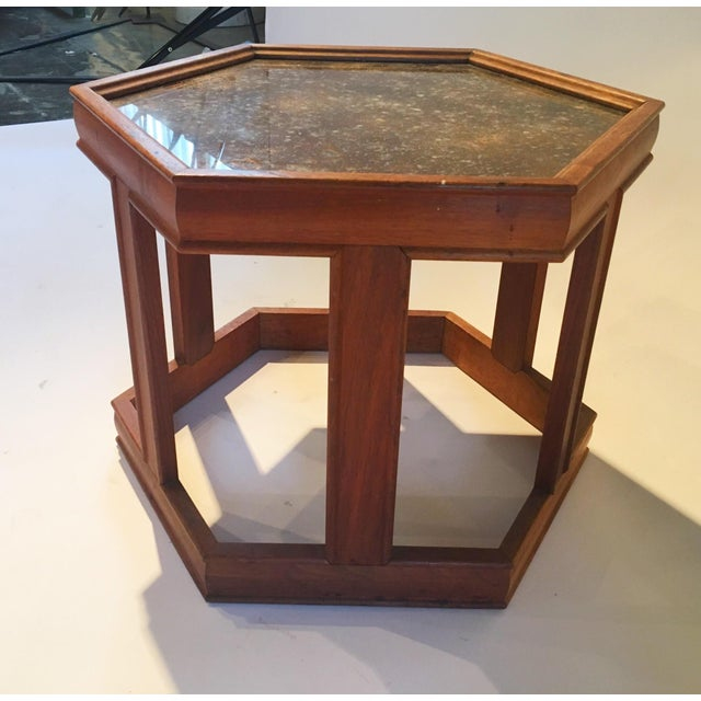 Mid-Century Hexagonal Side Table - Image 6 of 7